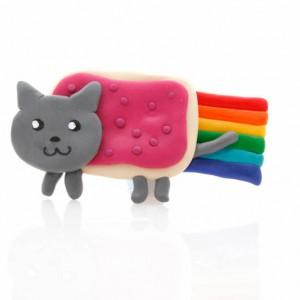 Broche Nyan Cat hecho a Mano con Fimo