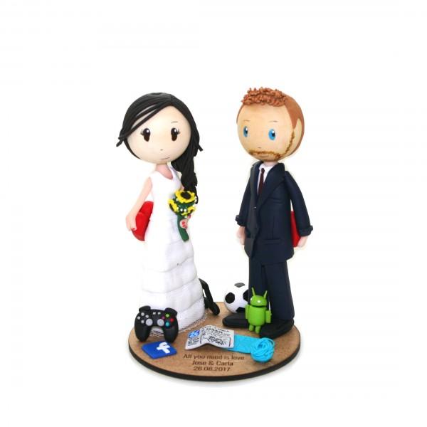Figuras para tarta de boda personalizadas