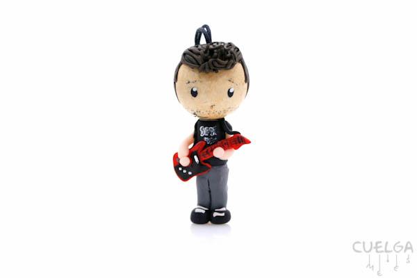 Muñecos Personalizados de Madera y Fimo Guitarrista
