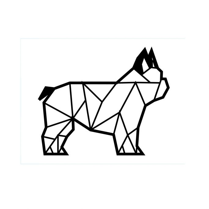 Animales Geometricos Bulldog Madera