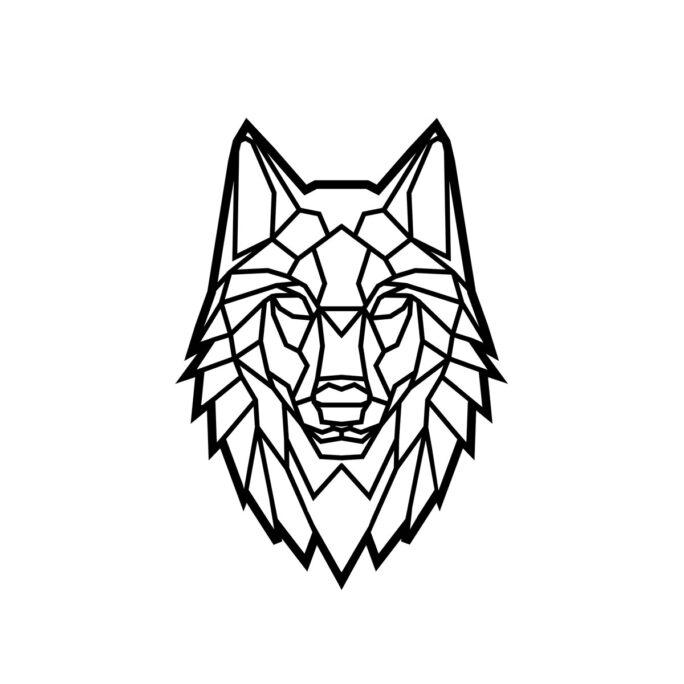 Animales Geometricos Lobo Madera