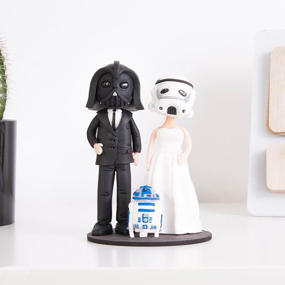 Figuras Boda Star Wars